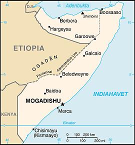 Somalia, kart